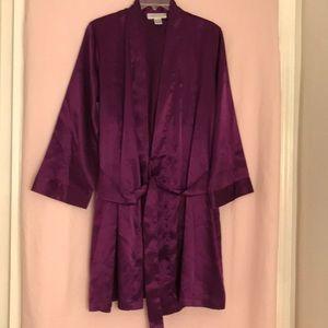 Morgan Taylor Intimates Satin Purple Robe Size S